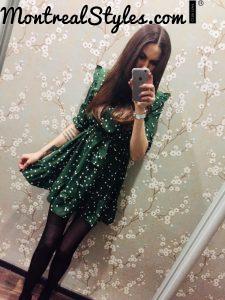 2020 NEW WOMAN'S CUTE TRIM MINI SWEET DOT DRESS photo review